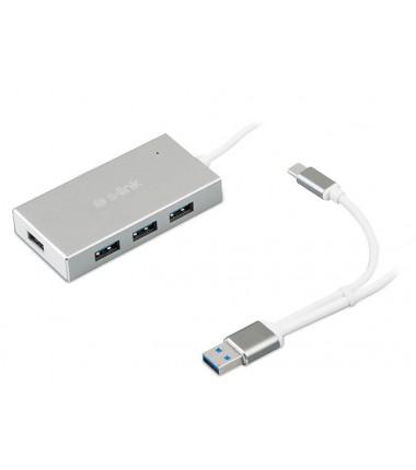 S-LINK SWAPP SW-U320 4 PORT ALUMİNİUM USB 3.0 TYPE-C USB HUB