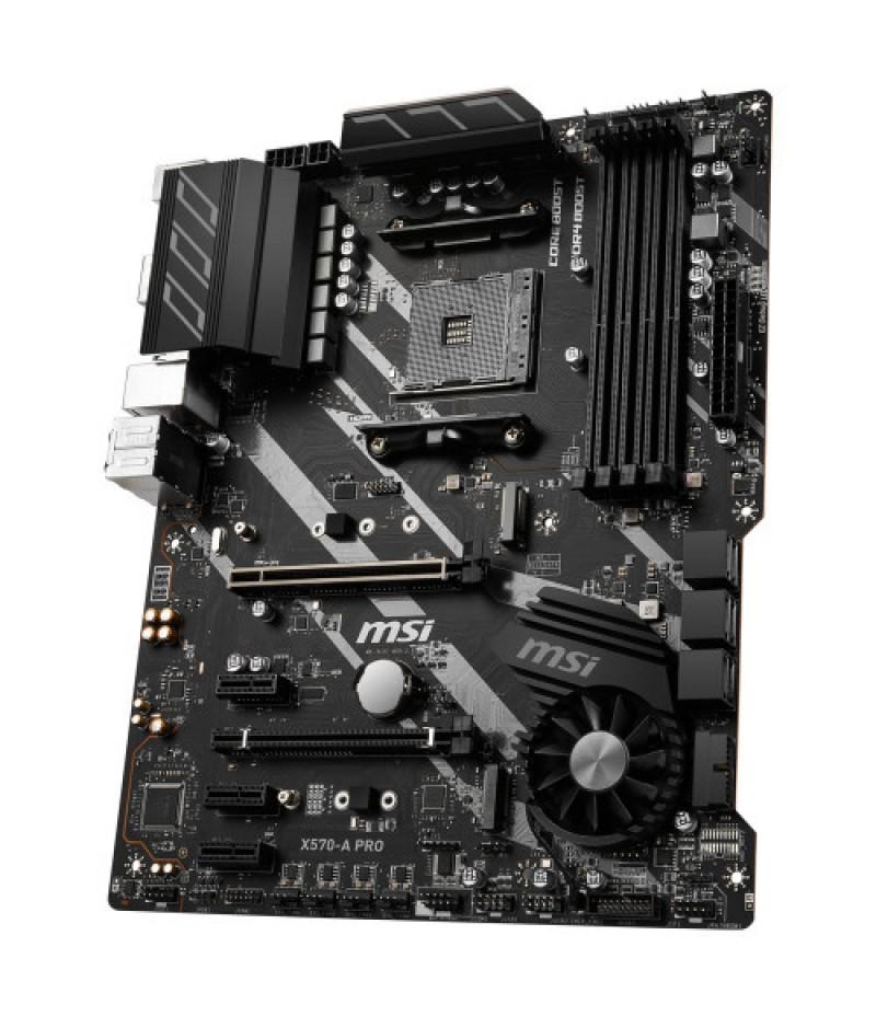 MSI X570-A PRO 4400Mhz(OC) DDR4 Soket AM4 M.2 HDMI PCIe 4.0 ATX Mainboard