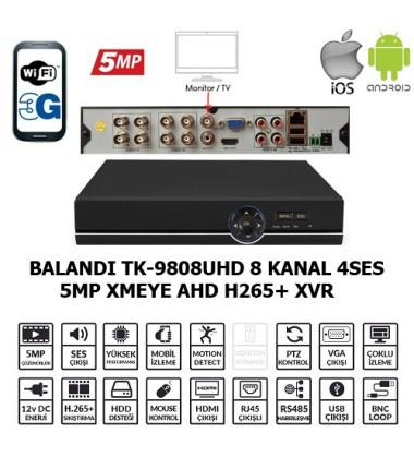 BALANDI TK-9808UHD 8CH 4SES 5MP XMEYE AHD H265+