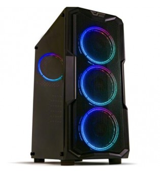 DarkFlash AquariusAcrylic 650W 80+Br RGB Mid gaming case with remote controller