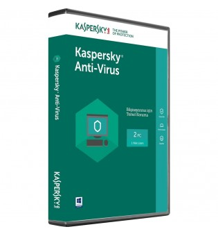 Kaspersky Anti-Virus 2 person 1 year