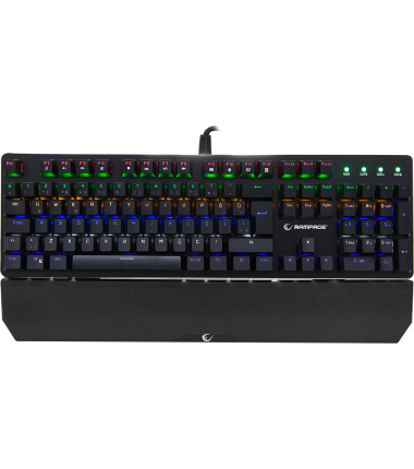 Rampage KB-R91 Optic blue Switch waterprof Ledli RGB light colour mechanic keyboard